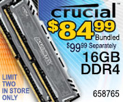 Crucial 16GB Memory $84.99 Bundled