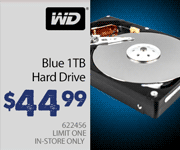 Western Digital Blue 1TB Hard Drive - $44.99