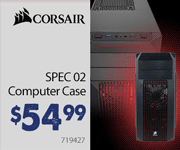 Corsair SPEC-02 Computer Case $54.99
