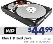 Western Digital Blue 1TB Hard Drive - $44.99