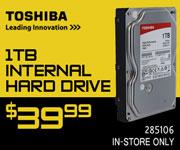 Toshiba 1TB Internal Hard Drive - $39.99