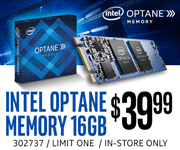 Intel Optane Memory 16GB - $39.99