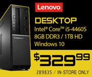 Lenovo Desktop - $329.99