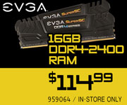 EVGA 16GB DDR4-2400 RAM - $114.99
