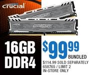 Crucial 16GB DDR4 - $99.99 bundled