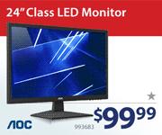 AOC 24-inch Class LED Monitor - $99.99