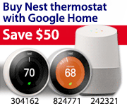 Buy Nest thermostat with Google Home, Save $50