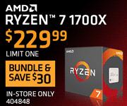 AMD RYZEN 7 1700X - $229.99