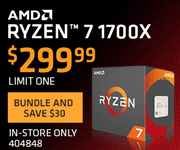 AMD RYZEN 7 1700X - $299.99