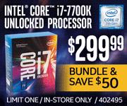 Intel Core i7-7700K Unlocked Processor - $299.99