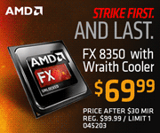 AMD FX-8350 - $69.99 after $30 MIR
