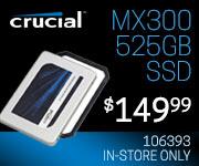 Crucial MX300 525GB SSD - $149.99
