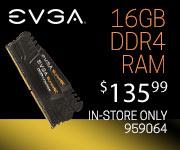 EVGA 16GB DDR4-2400 RAM - $135.99