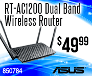 ASUS RT-AC1200 Dual Band wireless router $49.99