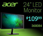 Acer 24 inch LED Monitor $109.99