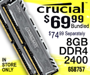 Crucial Ballistix Memory $69.99 Bundled