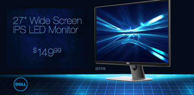 Dell 27 inch Wide Screen IPS LED Monitor $149.99