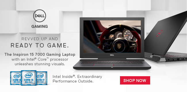 Dell Gaming - Revved Up and Ready to Game. The Inspiron 15 7000 Gaming Laptop with an Intel Core Processor unleashes stunning visuals. SHOP NOW