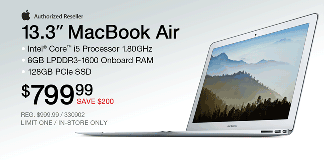 Apple 13.3-inch MacBook Air - $799.99
