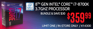 8th Gen Intel Core i7-8700K Processor - $359.99