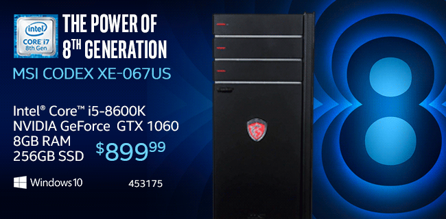 MSI Codex XE-067US Desktop $899.99