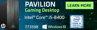 HP Pavilion Gaming Desktop Intel Core i5 8400 NVIDIA GeForce GTX 1050Ti Windows 10 $599.99 Sku 773598