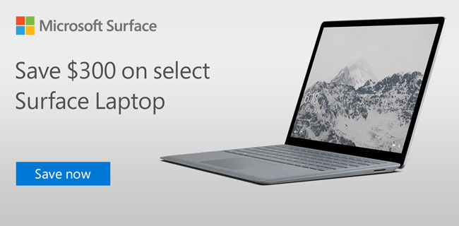 Save $300 on select Surface Laptop - Save now