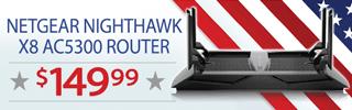 Netgear Nighthawk X8 AC5300 Router - $149.99