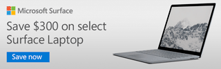 Microsoft Surface - Save $300 on select Surface Laptop; Save Now
