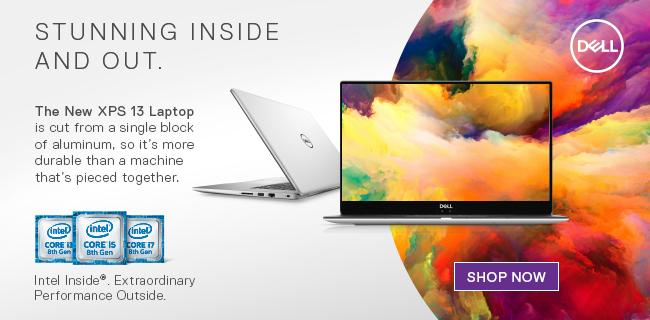 Stunning Inside and Out. The New Dell XPS 13 Laptop is cut from a single block of aluminum, so it's more durable than a machine that's pieced together. Shop Now.