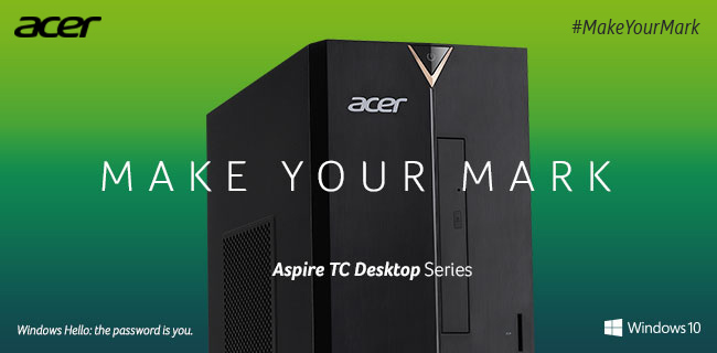 Acer TC Desktop Series - Make Your Mark. Shop Now