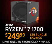 AMD Ryzen 7 1700 - $249.99