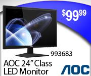 AOC 24 inch Class LED Monitor $99.99