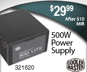 Cooler Master 500W Power Supply $29.99 after $10 Mail in Rebate