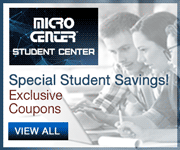 Micro Center Student Center - Special Student Savings; Exclusive Coupons; VIEW ALL