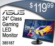 ASUS 24 inch class Gaming LED Monitor $119.99 Sku 385187