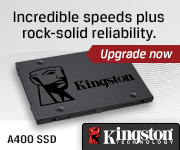 Kingston A400 SSD; Incredible speeds plus rock-solid reliability - Upgrade now