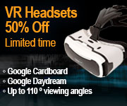 VR Headsets 50 percent off. Limited time.