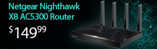 Netgear NighthawkX8 AC5300 Router $149.99