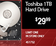 Toshiba Hard Drive $29.99