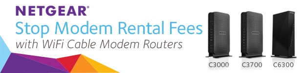 NETGEAR. Stop Modem Rental Fees with WiFi Cable Modem Routers.