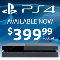 PS4 Available Now