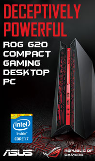 Deceptively Powerful! ROG G20 Compact Gaming Desktop PC from ASUS!