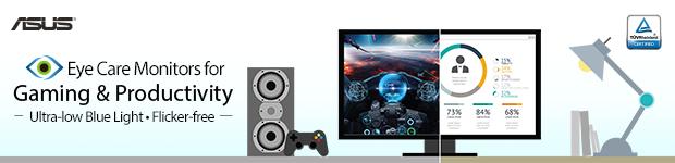 ASUS. Eye Care Monitors for Gaming & Productivity