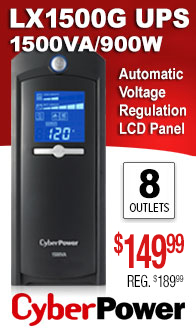 CyberPower Intelligent LCD 1500VA UPS