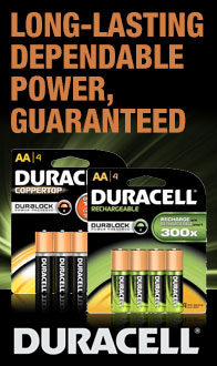 Long-Lasting Dependable Power!