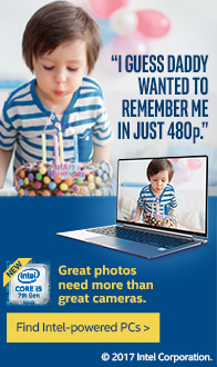 Great photos need more than great cameras. Intel powered PCs