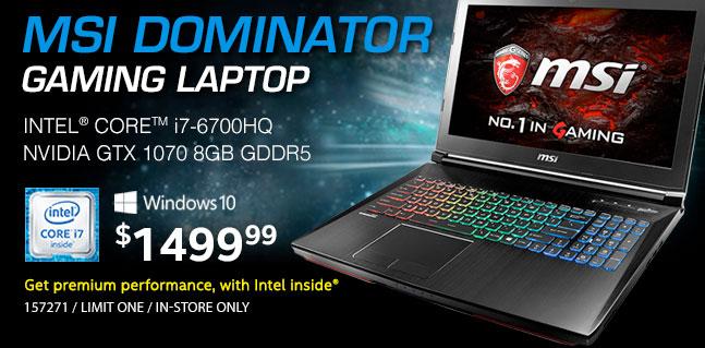MSI Dominator Pro-Gaming Laptop - $1499.99