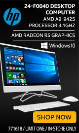 "HP 24-f0040 23.8"" All-in-One Desktop Computer"