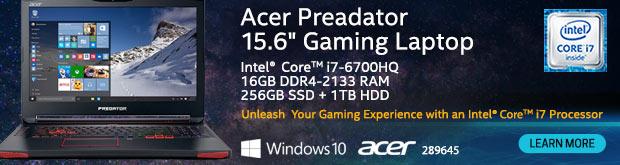 Acer Predator 15 G9-593-72VT 15.6